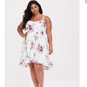 Torrid Floral Challis Skater Dress 0/L